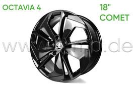 "4x Leichtmetallfelge COMET 18"" Black - original - SKODA OCTAVIA IV (NX)"