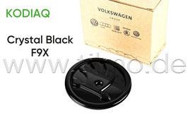 SKODA Emblem Logo BLACK F9X (vorne) - original - SKODA KODIAQ