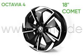 "4x Leichtmetallfelge COMET 18"" Black Front polierter - original - SKODA OCTAVIA IV (NX)"
