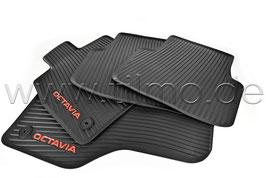SET Gummifußmatten (vorne+hinten) RED - original - SKODA OCTAVIA IV (NX)