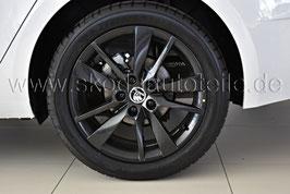 "4x Leichtmetallfelge TRIUS Black 17"" - original - SKODA OCTAVIA III Facelift (5E)"
