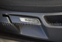 """Blende """"VRS"""" VFL für Sitzverstellung Alu (L+R) - SKODA OCTAVIA II"""