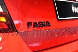 """BLACK Schriftzug Emblem Heckklappe """"FABIA"""" - original - SKODA FABIA"""
