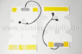 SET Heizelemente für Sitzheizung (Sitzfläche+Rückenlehne) - original - SKODA OCTAVIA II