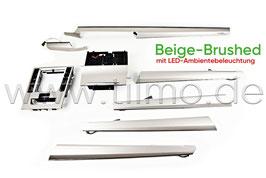 """SET Dekorleisten """"Beige-Brushed"""" mit LED-Ambientebeleuchtung - original - SKODA SUPERB III FL"""