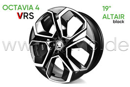 "4x Leichtmetallfelge ALTAIR 19"" black- original - SKODA OCTAVIA IV RS (NX)"
