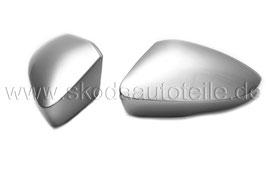 Dekor Spiegelabdeckung Blende ALU-LOOK glänzend  - original - SKODA OCTAVIA III (5E)