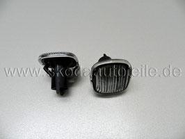 Seitenblinker Kotflügel rauchgrau (L+R) - original - SKODA, AUDI, VW, SEAT