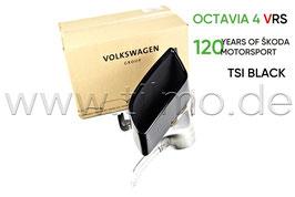 VRS TSI Endrohre Auspuffblende BLACK (L oder R) - original - SKODA OCTAVIA IV RS (NX)