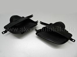 RS 230 Endrohre Auspuffblende BLACK (L+R) - original - SKODA OCTAVIA III (5E) (TSI)