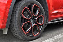 "4x Leichtmetallfelge XTREM 20"" Black&Red- original - SKODA KODIAQ RS"