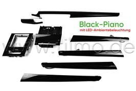 """SET Dekorleisten """"Black-Piano"""" mit LED-Ambientebeleuchtung - original - SKODA SUPERB III FL"""