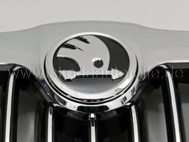 SKODA Emblem Logo CHROM/SCHWARZ (vorne oder hinten) - original - SKODA SUPERB I