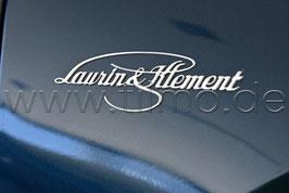 """1x NEU Emblem """"Laurin & Klement"""" (L oder R) - Neues Modell - original"""