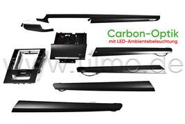 """SET Dekorleisten """"Carbon"""" mit LED-Ambientebeleuchtung - original - SKODA SUPERB III FL"""
