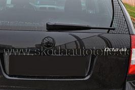 SKODA Emblem Logo BLACK (hinten) - original - SKODA OCTAVIA I, OCTAVIA II, FABIA II, ROOMSTER
