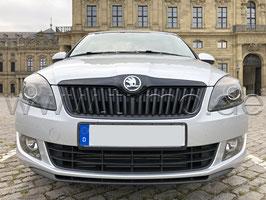 Leiste (oben+unten) inkl. Emblem BLACK Metallic - original - SKODA FABIA II Monte Carlo