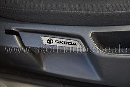 """Blende """"SKODA"""" für Sitzverstellung Alu (L+R) - SKODA OCTAVIA II"""