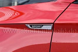"2x Schriftzug Emblem Kotflügel (L+R) ""SportLine"" - original"