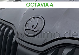 SKODA Emblem Logo BLACK (vorne) - original - SKODA OCTAVIA IV (NX)