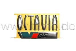 "RS Schriftzug Emblem Heckklappe ""OCTAVIA VRS"" GRÜN - original - SKODA OCTAVIA II (1Z)"