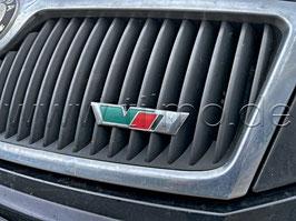 """RS Schriftzug Emblem Kühlergrill """"VRS"""" GRÜN - original - SKODA OCTAVIA II (1Z) (2004-2009)"""