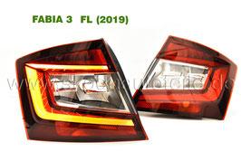 LED Rückleuchte KIRSCHROT (L+R) - original - SKODA FABIA III Facelift