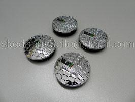 4x VRS DESIGN Nabendeckel Nabenkappe Felgenkappe chrom (Set)