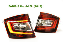 LED Rückleuchte KIRSCHROT (L+R) - original - SKODA FABIA III Facelift Combi