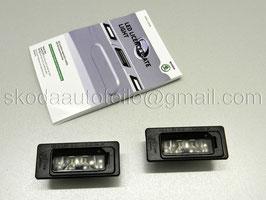 NEU 2x LED-Kennzeichenleuchte - original - VW/SKODA
