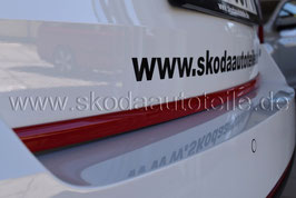 Dekorleiste für Heckklappe RED - SKODA SUPERB II (3T)