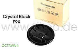 SKODA Emblem Logo BLACK F9X (vorne) - original - SKODA OCTAVIA IV (NX)