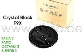 SKODA Emblem Logo BLACK F9X (V o. H) - original - OCTAVIA III