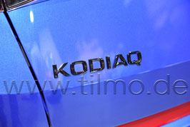 """BLACK Schriftzug Emblem Heckklappe """"KODIAQ"""" - original - SKODA KODIAQ"""