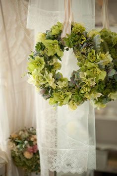 Green natural wreath