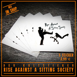 5x Sticker: Rise Against A Sitting Society