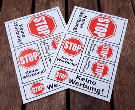 """10er-Set """"Stop - Keine Werbung!"""""""