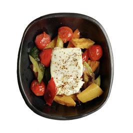 Gegrilde groenten met feta en hazelnoot