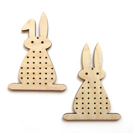 Stick-Hasen aus Holz *2 Hasen*
