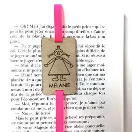 Lesezeichen mit Gummiband pink *Prinzessin*