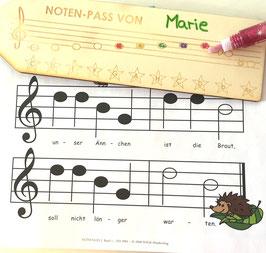 Noten-Pass für kleine Musikanten