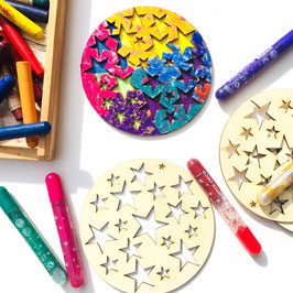 5x Sternenkreise Holz *selber kreativ Gestalten*
