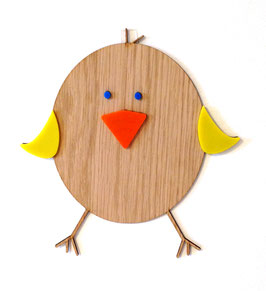 Holz-Pipmatz Wanddeko
