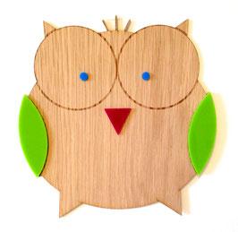Holz-Eule Wanddeko