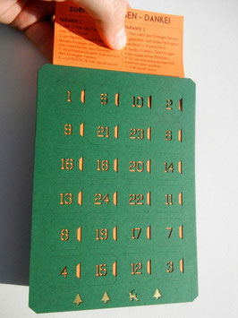 *WEIHNACHTSMOTIVE* Adventskalender - grün Hochformat