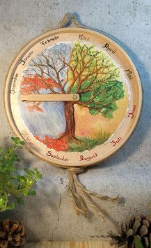"""Jahreszeitenuhr """"Kreislauf der Zeit"""""""