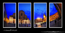 Bologna by night durante ora Blu