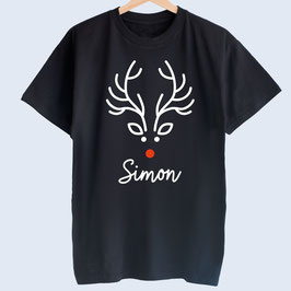 "Männer-T-Shirt, ""Rudolf Rentier"""