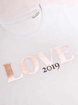 """T-Shirt """"LOVE"""" mit Jahreszahl"""