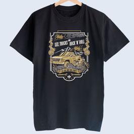 Männer-T-Shirt, US-Party Motiv Truck und Motorrad